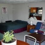 Inside the rental cabin